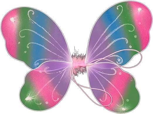 Vivianu - Alas de mariposa de colores con purpurina, 10 colores ...