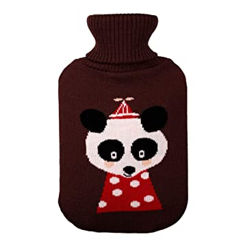 Baby Products Soft Velvet Fleece Covered Natural Rubber Hot Water Bottle Deer