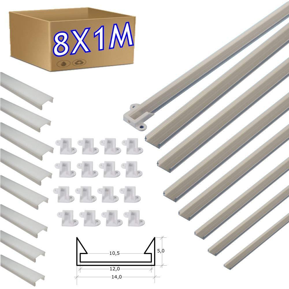 5 X Soporte para LED 5mm Leds Cuadrado