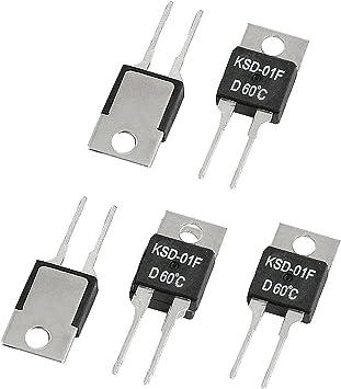 KSD-01F D60C Control de la temperatura y termostato 60 Celsius NC ...