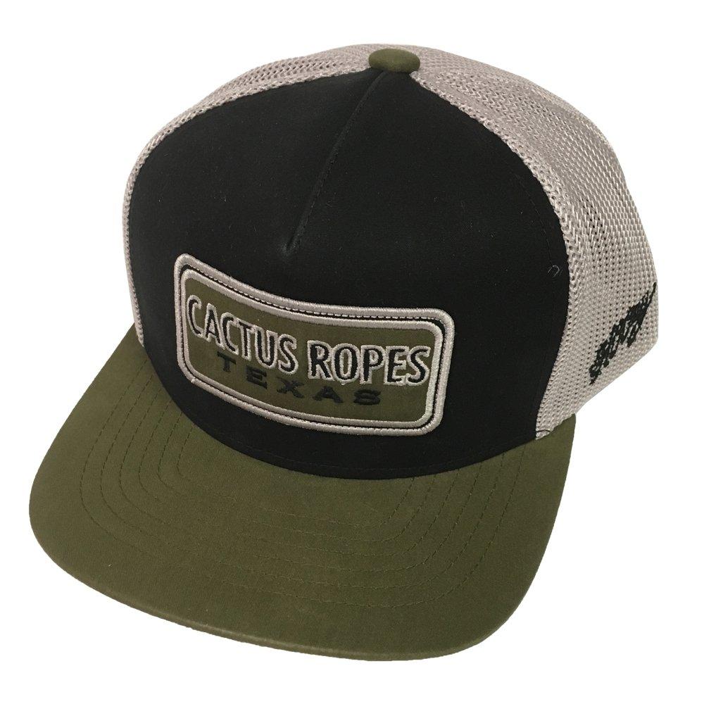 HOOey Brand, CR26, Cactus Ropes Black/Grey Snapback Hat, Youth