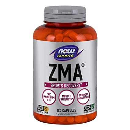 Now Foods ZMA Sports Recovery Capsules, 180-Count