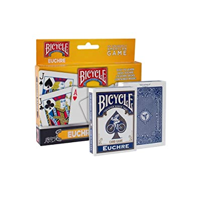 Bicycle Euchre Games Playing Cards (4-Pack): Sports & Outdoors