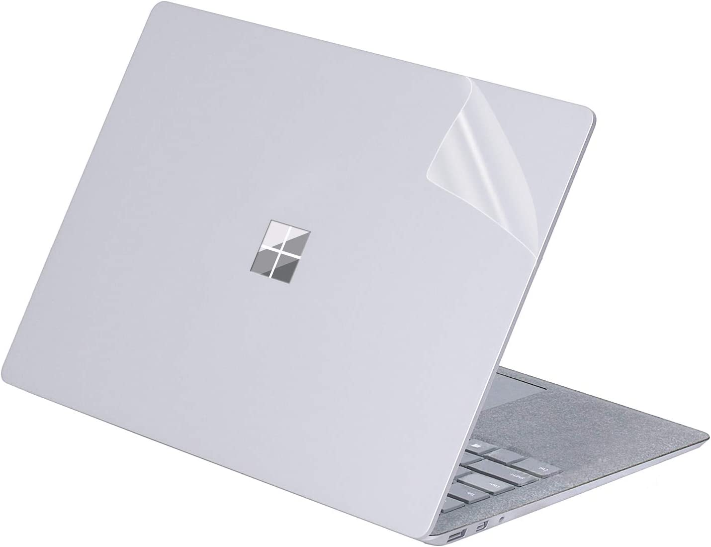 "MasiBloom Transparent Decal Sticker for 13 inch Microsoft Surface Laptop 3 & 2 & 1 (2019 18 17 Released) 13.5 inch Anti-Scratch Vinyl Protective Skin (for 13.5"" Surface Laptop 3/2/1, Transparent)"