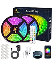 WiFi LED Strip Lights 10M (2x5M), ALED LIGHT RGB LED Strips Lights 5050 SMD, 16 Million Colors, Sync with Music, IP65 Waterproof, Smart Phone APP Controlled LED Band, Work with Alexa, Google Home