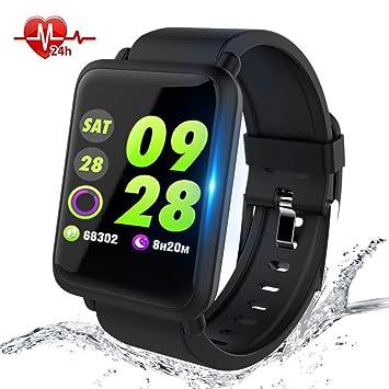 Montre Connectée,Anding Smartwatch Fitness Tracker étanche IP67 Montre Sport avec Podomètre Calorie Cardiofréquencemètre Sommeil