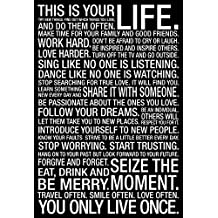 This Is Your Life Motivational Quote Collections Poster Print, 24x36