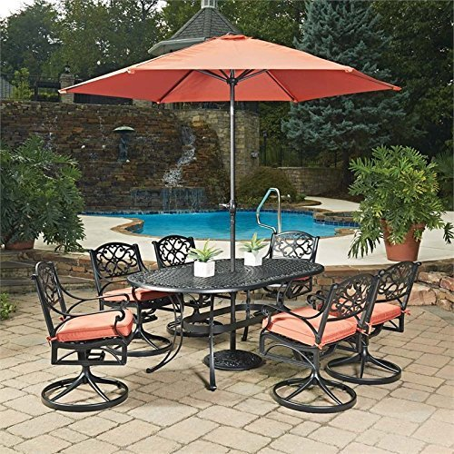 Biscayne Black 9Piece Oval Outdoor Dining Set by Home - Dining Biscayne Set