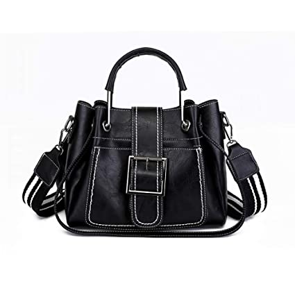 f7899e8c4548 Amazon.com: GMYANDJB Stripe Strap Leather Crossbody Bag Vintage ...