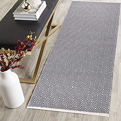 HEBE Extra Long Cotton Area Rug Runner 2'x6' Reversible Hand Woven Cotton Throw Rug Floor Mat Carpet Runner for Kitchen… - Diamond Reversible Cotton Area Rug Runner-- Diamond cotton rug features unique design, Whether modern traditional, it will bring you keep up with the latest trends, decorate a very chic home style. Superior Material-- These cotton rugs made of Recycled Cotton, solid, natural and eco-friendly. These rugs are handmade woven, which makes every rug unique and also may slightly vary in size or color. It is reasonable. Multi-functional Extra Long Runner-- The Size of HEBE Cotton area rug runner is 24 x 72 inch (60 x 180 cm) , it will look great in your kitchen, bedroom, living room, laundry room,entry way,kids room, dorm and more. Also great throw cover mats for sofa and tables.It also can be used as a decorative tapestry to lighten your space. - runner-rugs, entryway-furniture-decor, entryway-laundry-room - 61Mu2SkFFpL. SS400  -