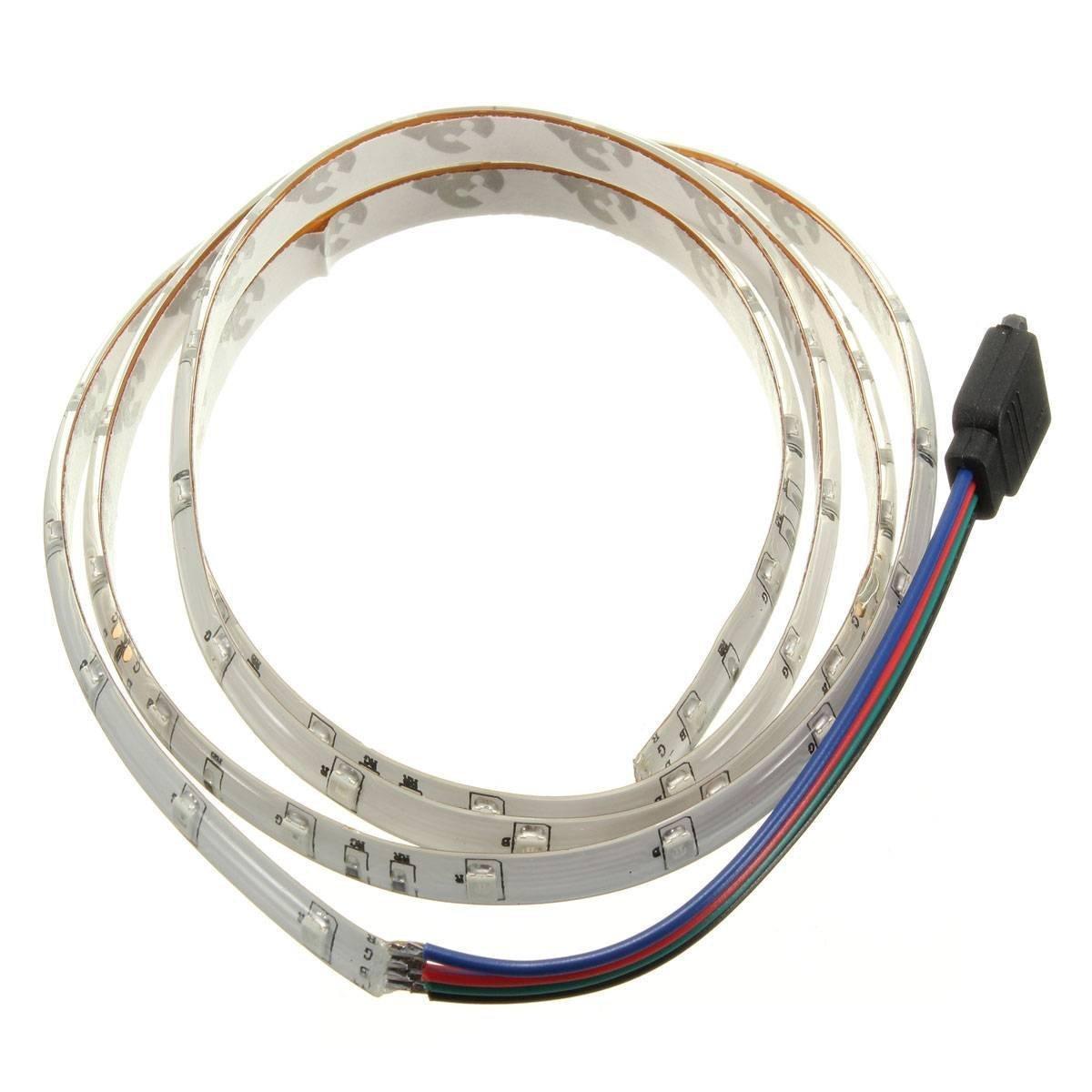 LED Strip Lumineuse - SODIAL(R)1M 60-3528 SMD RGB etanche LED Strip Lumineuse DC12V