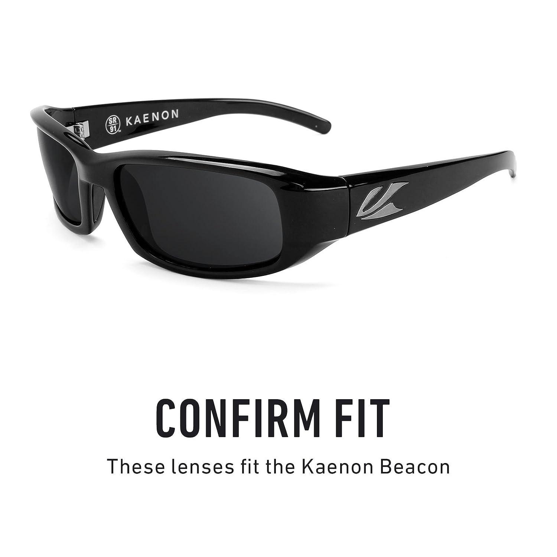 39b1e44564 Revant Polarized Replacement Lenses for Kaenon Beacon Black Chrome  MirrorShield®  Amazon.co.uk  Clothing