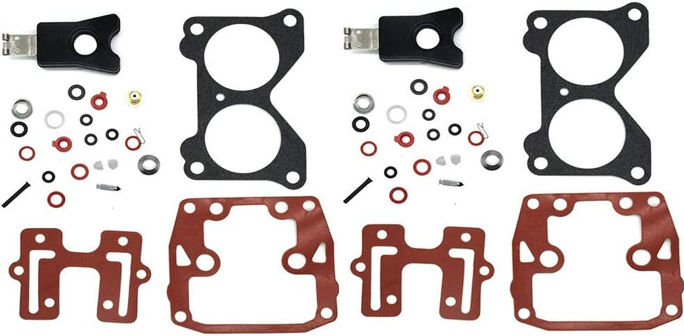 CQYD New Carburetor Repair Kit For 18-7046 439076 with Float Johnson Evinrude Twin Carb Rebuild Kit V4 85 90 100 115 125 140 HP