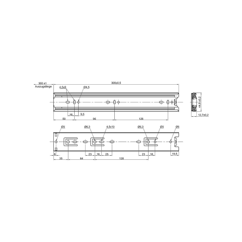 Gu/ías de Caj/ón de Extracci/ón Total 600 mm 45 kg Capacidad de Carga con Soft Close Gu/ías de Caj/ón de JUNKER 10 pares 1 x