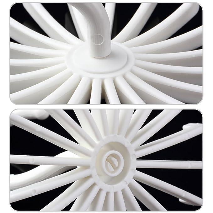 meijing 360 Grad drehen gezwirbelt 20 Haken Kunststoff Tie Rack ...