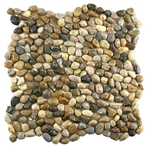 Mini Polished Cobblestone Pebble Tile 1 (Polished Pebble Tile)