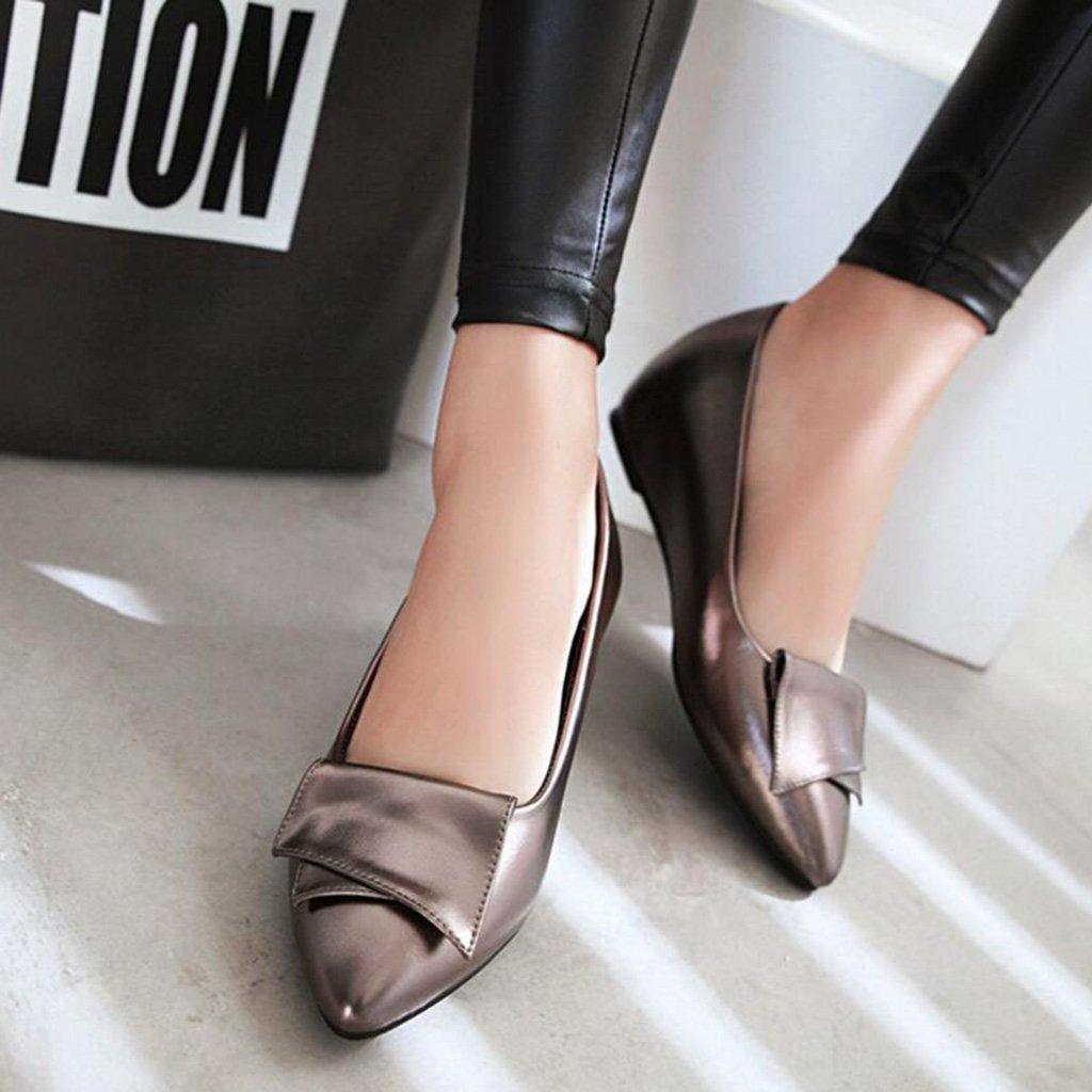 PU PU PU Oben Spitzkopf Flacher Mund Damenschuhe Schuhe mit Niedrigen Absätzen Professionelle Arbeitsschuhe Flache Schuhe e6b0c7