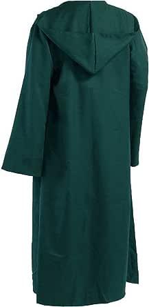 Amayar Men Tunic Hooded Robe Cloak Knight Fancy Cool Cosplay Costume