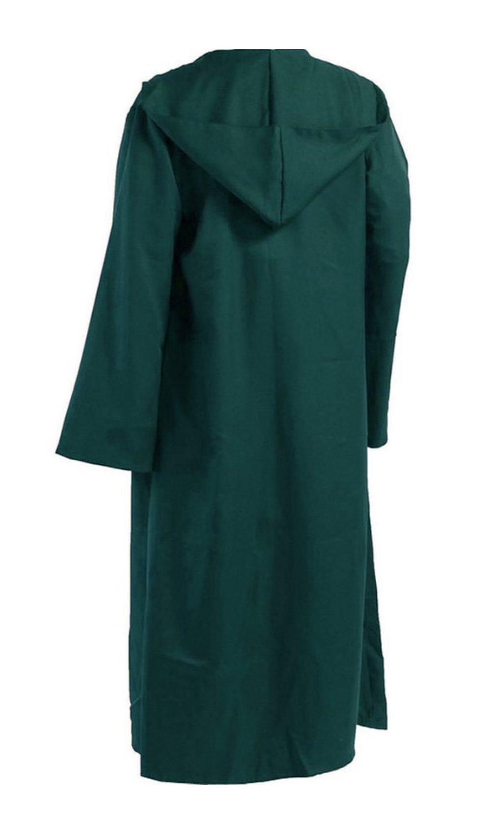 Men TUNIC Hooded Robe Cloak Knight Fancy Cool Cosplay Costume green M