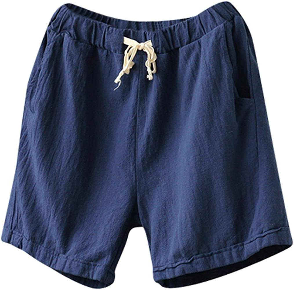 Pantalones Cortos De Algodón Y Lino, Wyxhkj Mujeres Pantalones ...