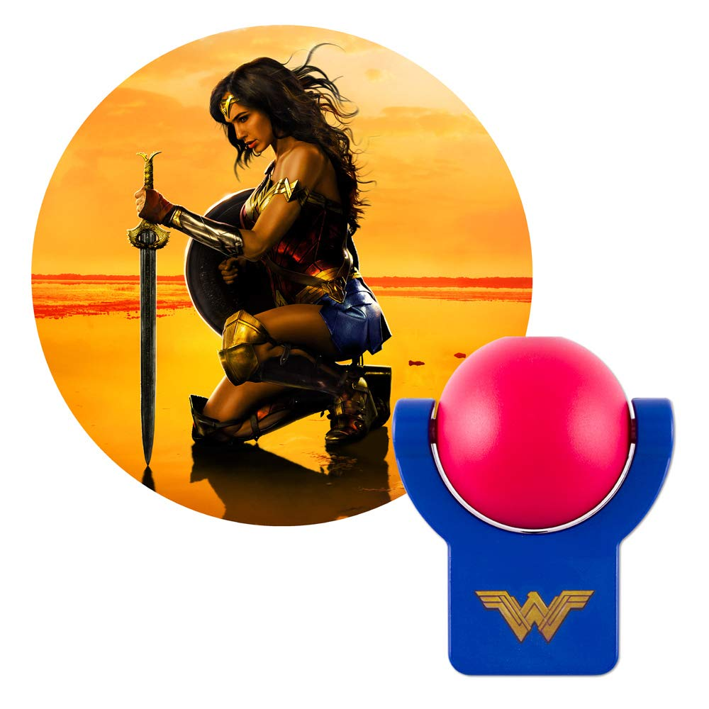 Projectables 40255 Wonder Woman LED Plug-in Night Light, DC Comics Character onto Ceiling, Wall or Floor, Red and Blue by Projectables