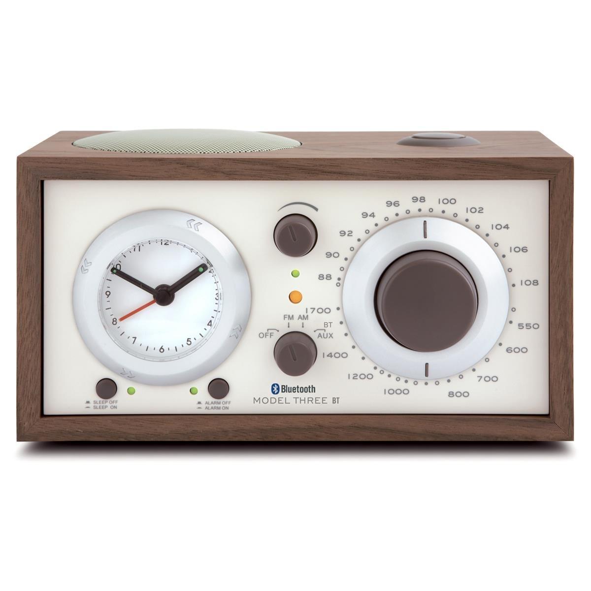 Tivoli Audio - Model Three BT AM/FM Clock Radio with Bluetooth - Walnut and Beige by Tivoli Audio