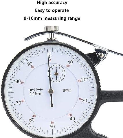 Messuhr 0 01 Mm Messwerkzeug Digitales Dickenmessgerät 0 10 Mm Dickenmessuhr 0 01 Mm Messuhr Für Leder Baumarkt