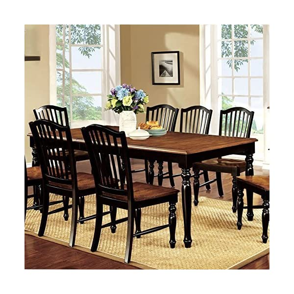 247SHOPATHOME 9 Piece dining room sets Black and Antique Oak