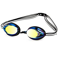 OPPSK Swim Goggles, Triathlon Swimming Goggles with Anti-Fog No Leaking UV Protection Lenses and Protection Case, Interchangeable Nose Bridge, Perfect for Adult Men Women Youth Kids Child