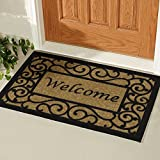 #6: Ottomanson Ottohome Collection Rectangular Welcome Doormat (Machine-Washable/Non-Slip), Beige, 20