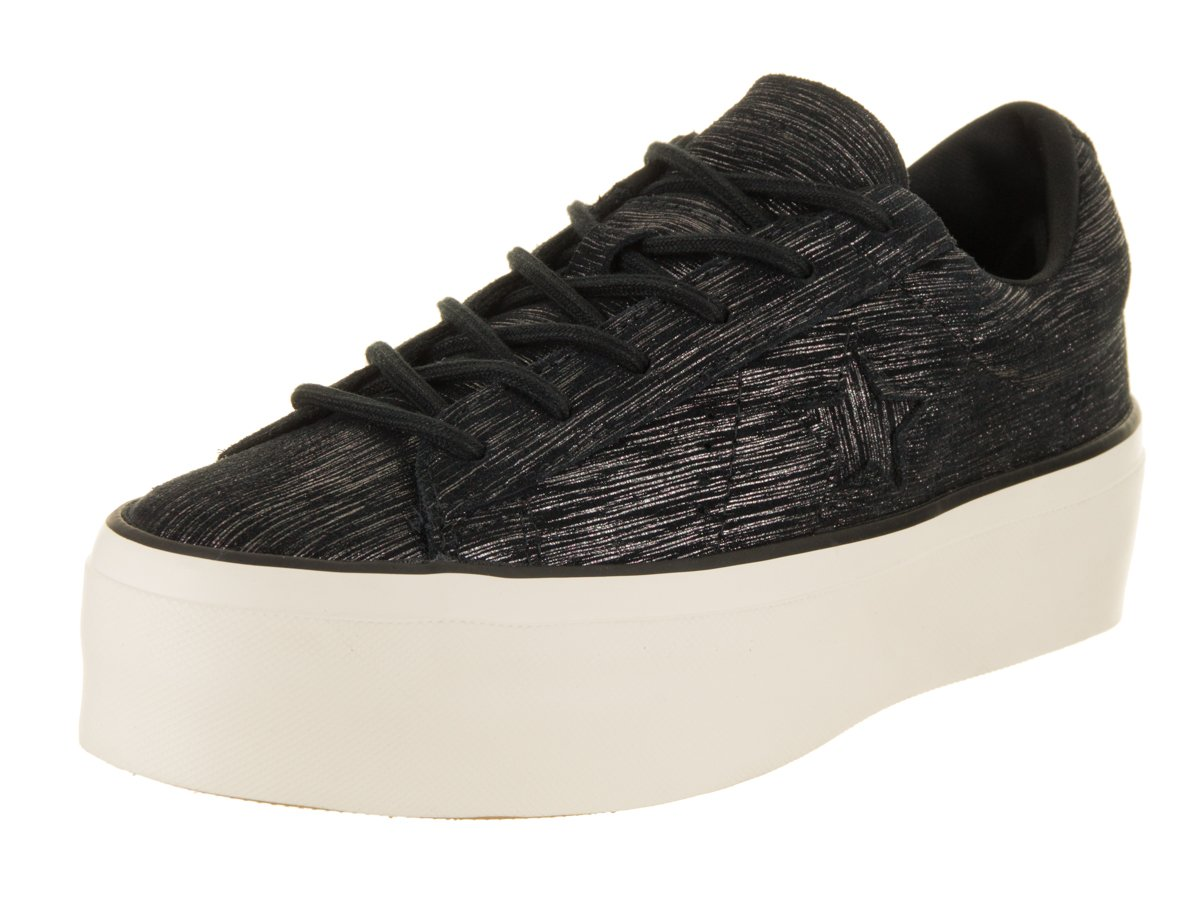 Converse Women's One Star Platform Ox Lifestyle Shoe B078N6WQT4 7.5 B(M) US|Black/Gunmetal/Egret