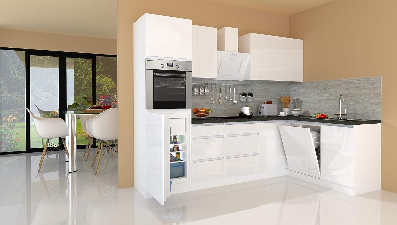 respekta Winkelküche Cocina Pequeña Cocina Cocina Forma L Cocina Cocina sin Tiradores Blanco Alto Brillo 280x172 CM: Amazon.es: Hogar