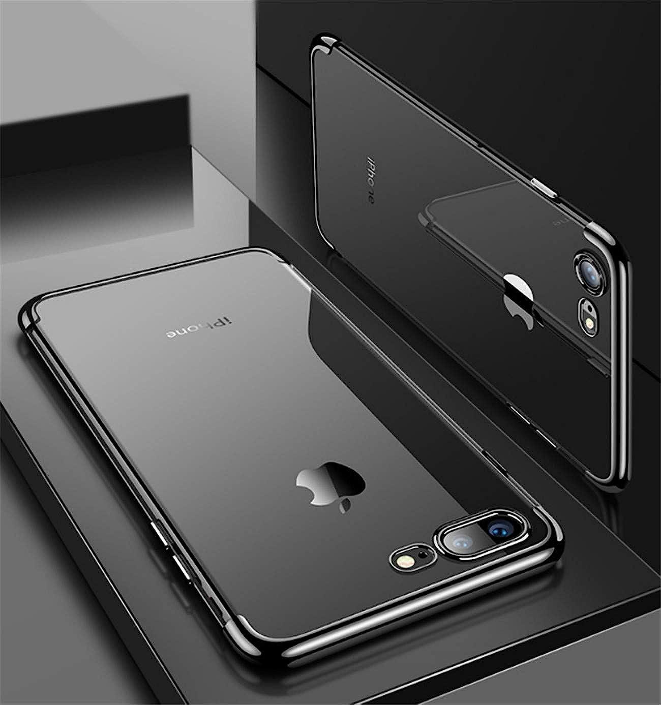 Kompatibel mit iPhone 8 Plus H/ülle Durchsichtig Silikon Schutzh/ülle /Überzug Handyh/ülle Sto/ßfest Anti-Fall Handy-Schutz rutschfest Weiches Gummi Telefonkasten