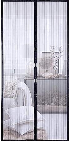 HYXZ - Pantalla mosquitera de malla con imanes, para puerta de mosquitero instantánea, puerta mosquitera magnética, cortina de malla resistente para puertas correderas francesas, para pesca, barco, garaje, 90 x 210 cm: