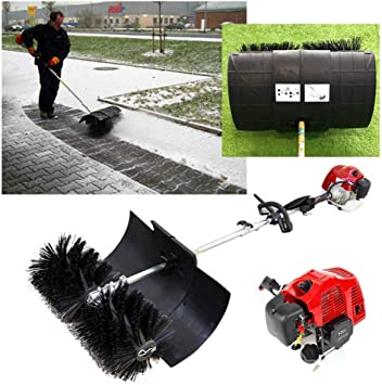 52cc Gas Power Hand Held Cleaning Sweeper Broom Walk Behind Sweeping Machine For Driveway Turf Artificial Grass 2 3hp 2 Stroke Engine Amazon Co Uk Diy Tools