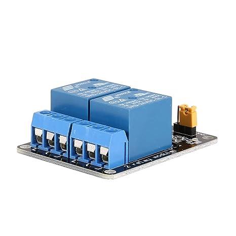 Interruptor optoacoplador de bajo Nivel de la Placa de Interfaz del m/ódulo de rel/é de 1V 1 Canal para Arduino SCM PLC Interruptor de Control Remoto de casa Inteligente Azul y Negro