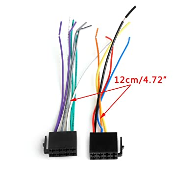 Universal Female Auto Radio Adapter Stecker ISO Kabelbaum Wire Plug ...