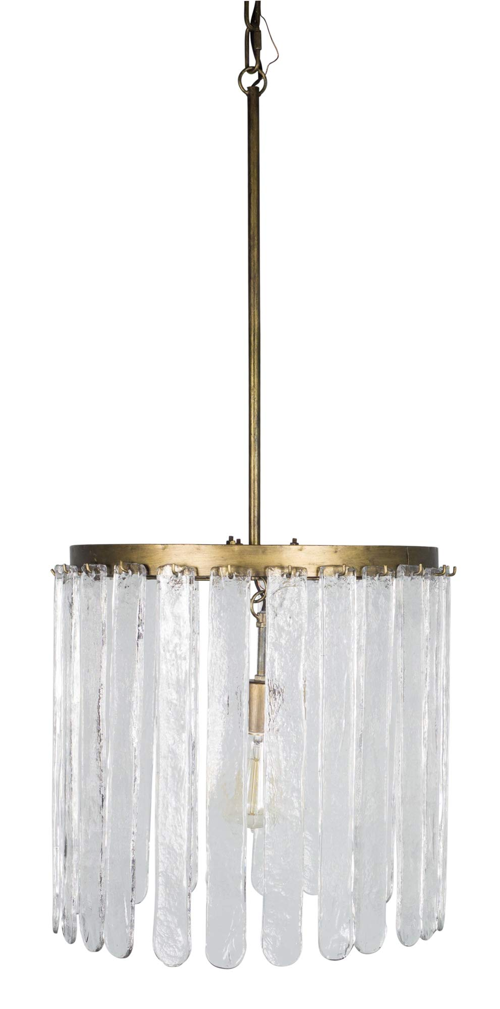 Melrose International Hanging Lamp 17.25'' x 37''H Iron/Glass (Max 40W)