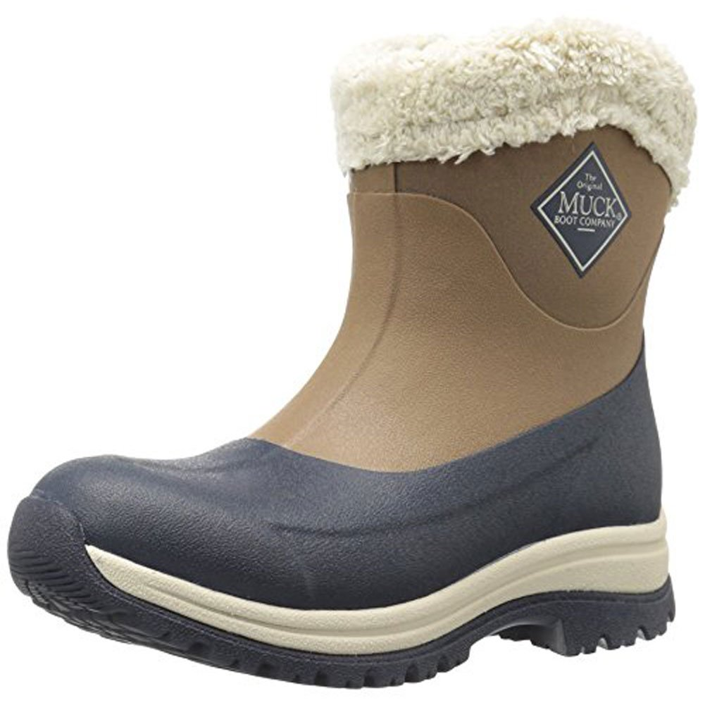Muck Boot Women's Arctic Apres Slip-On Snow, Otter/Navy/Fog, 9 M US