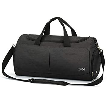 5efb2420f2cc Sports Gym Bag for Men Women Waterproof Travel Duffel Bag Luggage Tote Bag  with Wet Pocket & Shoes Compartment