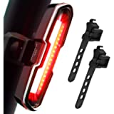 DON PEREGRINO Powerful LED Bike Tail Light 110 Lumens, Rechargeble Rear Bicycle Light with Multiple Modes for Night…