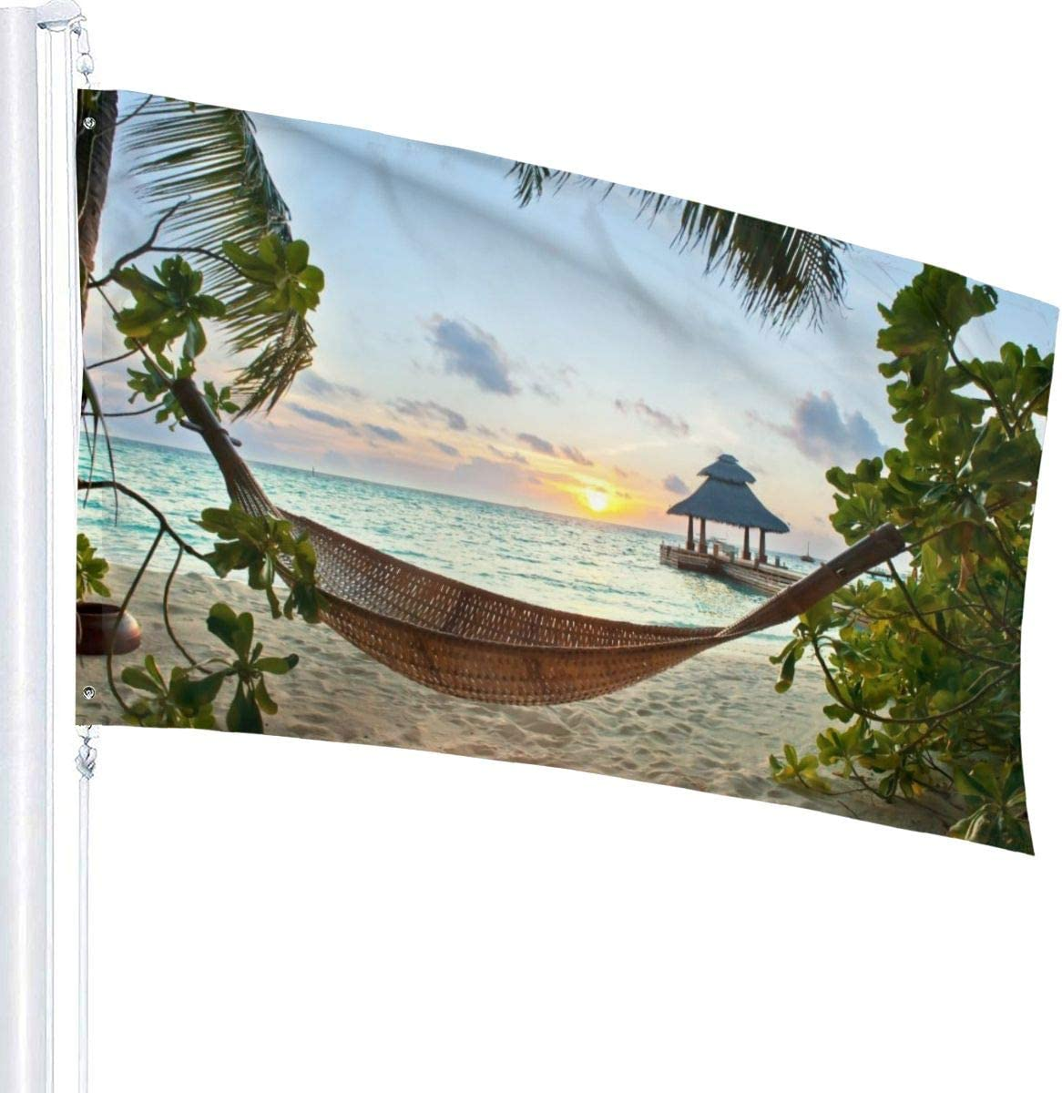 USA Guard Flag Banner Garden Flags Hammock On Sandy Beach Spring Outside Use Yard for Holidays Patio Lawn Decorative 3x5 Foot