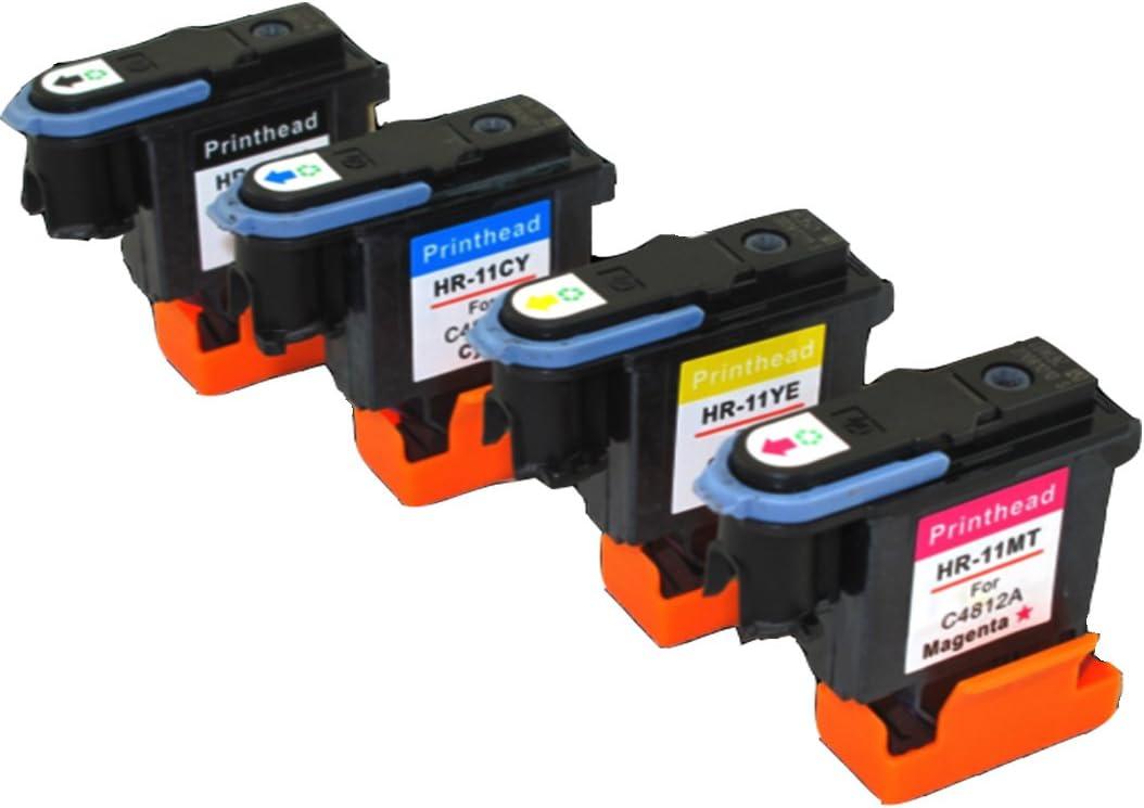yatunink conjunto completo de color para impresoras HP 11 Cabezal ...