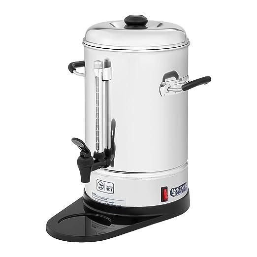 Royal Catering Cafetera de filtro industrial RCKM-WOF6 (1.150 W, 6 L, max. 85 °C, Preparación y mantenimiento en caliente, Con grifo para servir, ...
