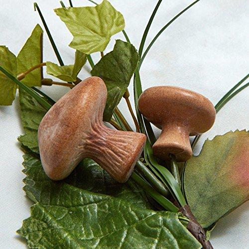 Wispy Artificial Leaf and Mushroom Floral Picks for Indoor Decor - 6 Picks