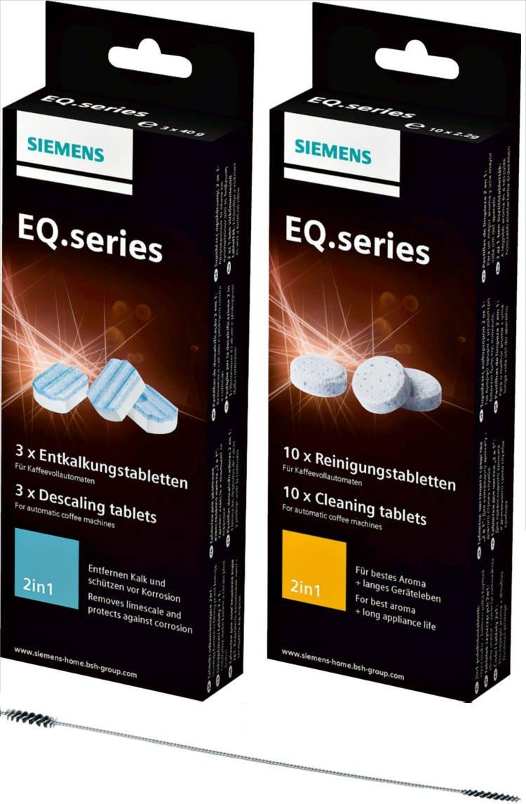 1x SIEMENS Reinigungstabletten (TZ80001) + 1x SIEMENS Entkalkungstabletten (TZ80002)