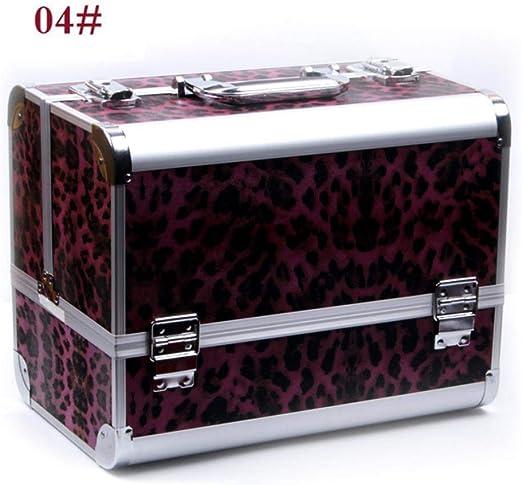RATWIFE 5 Aluminio código Grande Color Caja cosmética Maquillaje Set Caso Artista Especial Maquillaje Sombra de Ojos la Caja de Maquillaje: Amazon.es: Jardín