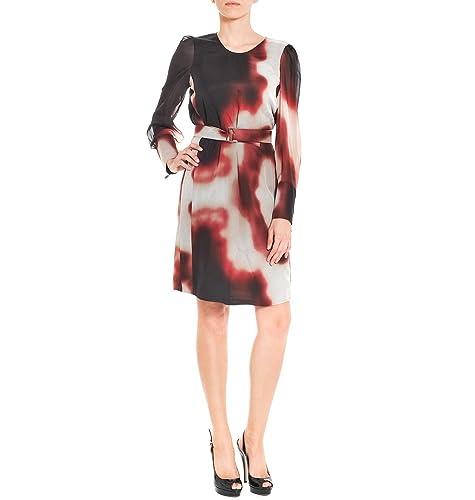 No Brand Vestito Donna 11568140056501 Seta Nero/Rosso