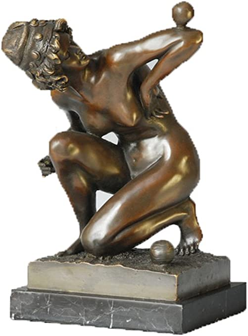 Toperkin Female Bronze Statues Metal Collection Sculpture Home Decor Amazon Co Uk Kitchen Home