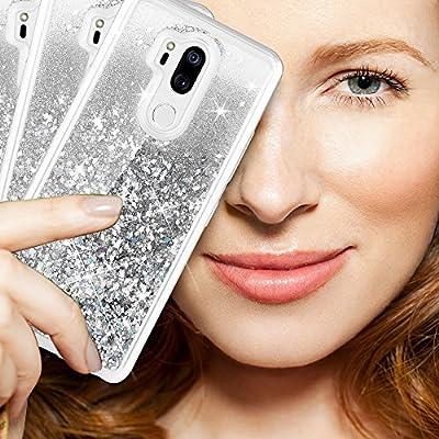 Caka LG G7 ThinQ Case, LG G7 ThinQ Glitter Case [Liquid Series] Luxury Fashion Bling Flowing Liquid Floating Sparkle Glitter TPU Bumper Case for LG G7 ThinQ 2018 - from Caka